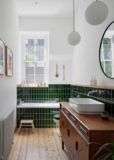 Bathroom in Edinburgh apartment (designed by Luke and Joanne McClelland)