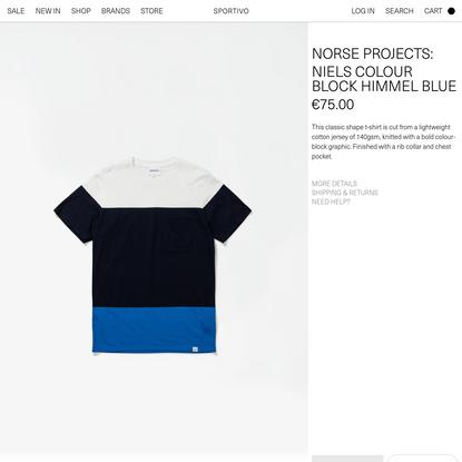 Niels colour block himmel blue