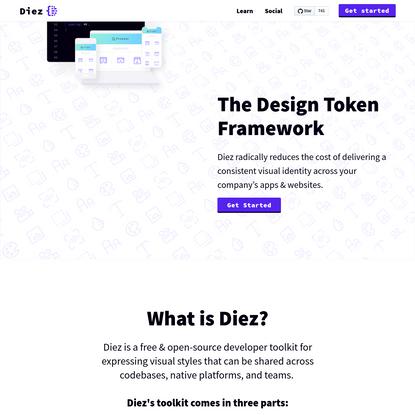 Diez - The Design Token Framework