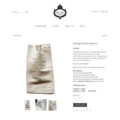 Vintage Cotton Natural   Cloth House Studio - Online Fabric Shop