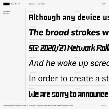 Typefaces · Mass-Driver™