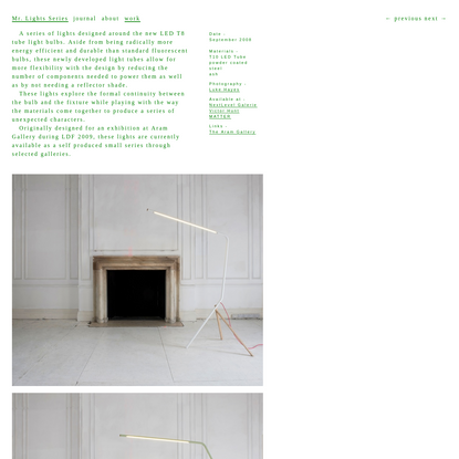 Tomás Alonso Design Studio - Mr. Lights Series