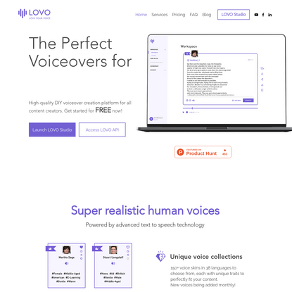 LOVO - Voice Ad & Audio Content Creation Platform for Freelancers & Enterprises