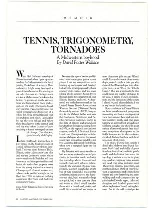 Tennis, Trigonometry, Tornadoes (David Foster Wallace)
