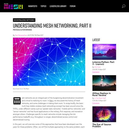 In the Mesh - Understanding Mesh Networking, Part II