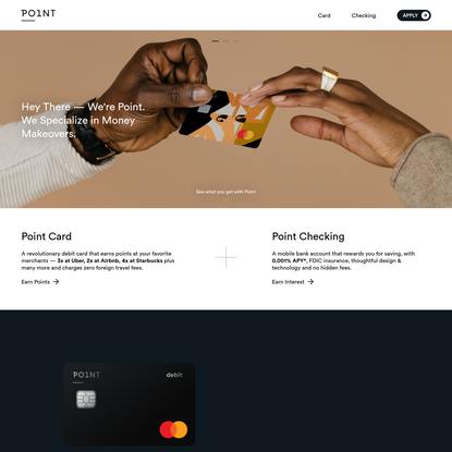Point - the do it all debit card.