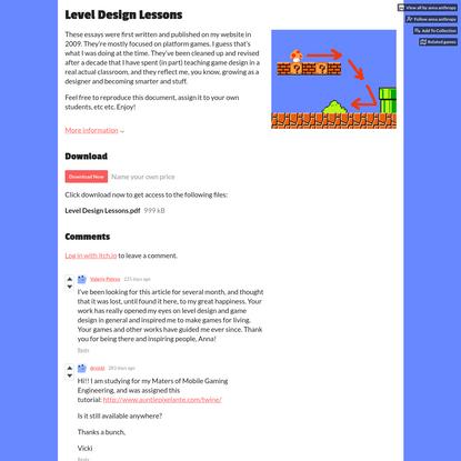 "anna anthropy's ""Level Design Lessons"""