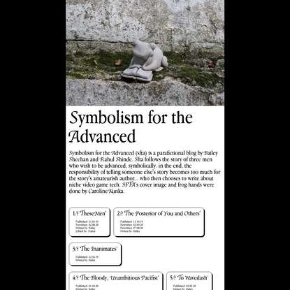 Symbolism for the Advanced