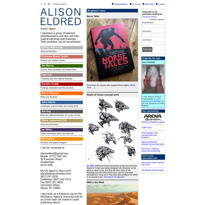 Alison Eldred artists' agent: science fiction illustration, fantasy, women's fiction cover art