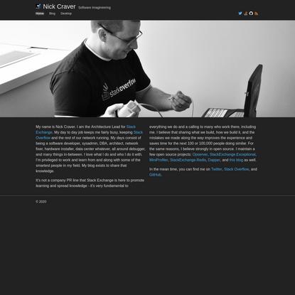 Nick Craver - Software Imagineering