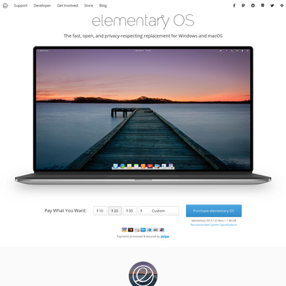 The fast, open, and privacy-respecting replacement for Windows and macOS ⋅ elementary OS