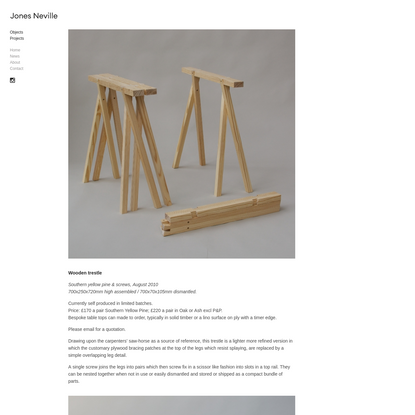 Wooden trestle - Jones Neville