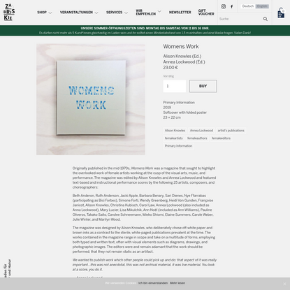 Womens Work - Zabriskie