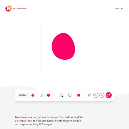 Blobmaker - Make organic SVG shapes for your next design