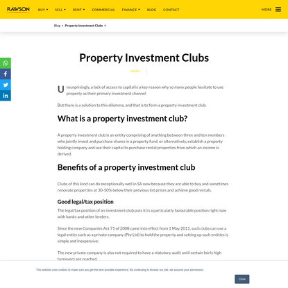 Property Investment Clubs