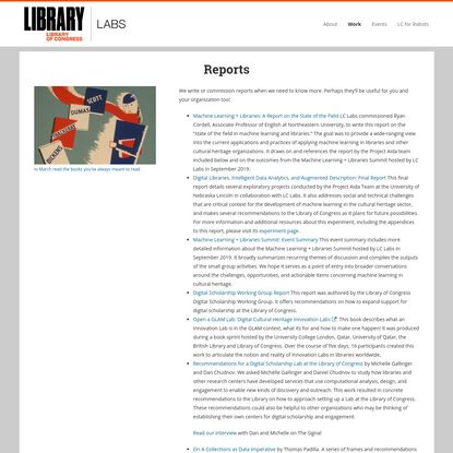 Reports | Work | Library of Congress