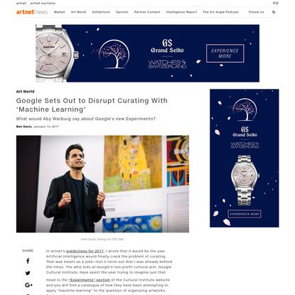 Google Disrupts Curating Via Artificial Intelligence | artnet News