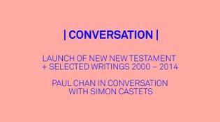 PAUL CHAN IN CONVERSATION WITH SIMON CASTETS
