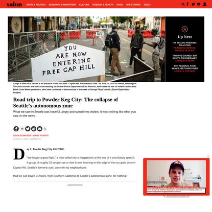 Road trip to Powder Keg City: The collapse of Seattle's autonomous zone