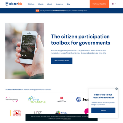 CitizenLab - civic engagement made easy.