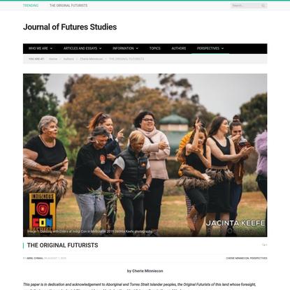 THE ORIGINAL FUTURISTS * Journal of Futures Studies