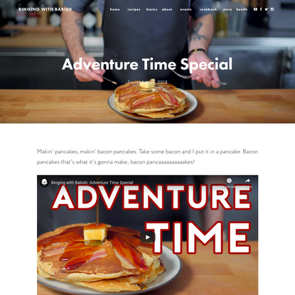 Adventure Time Special — Binging With Babish