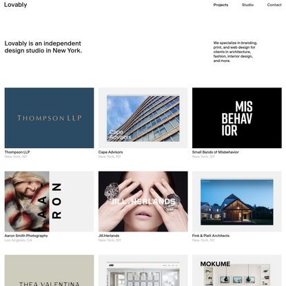 Lovably - Design Studio NYC