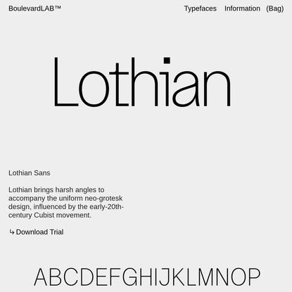 Lothian Sans - Boulevard LAB