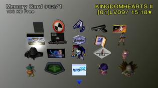 Playstation 2 Memory Card UI