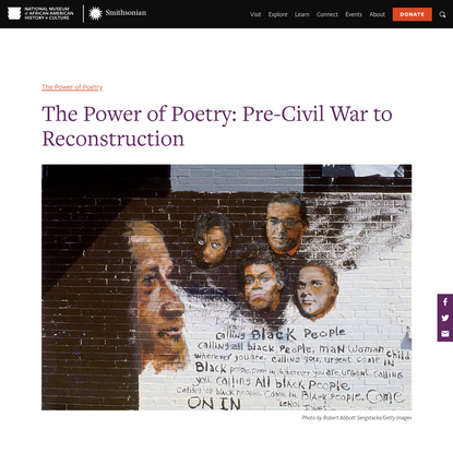 The Power of Poetry: Pre-Civil War to Reconstruction