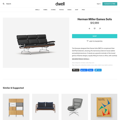 Herman Miller Eames Sofa by Design Within Reach