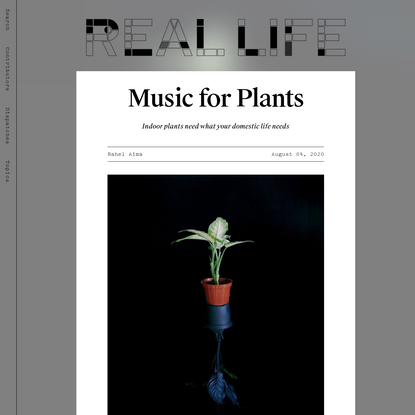 Music for Plants - Real Life
