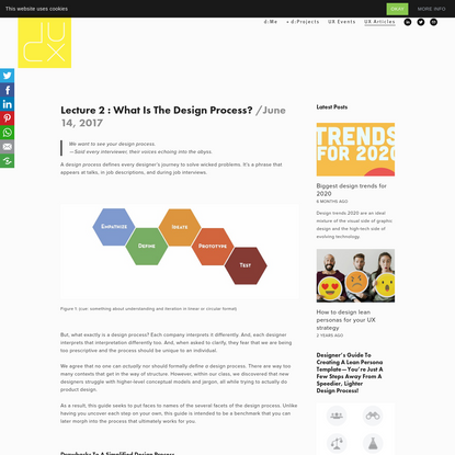 Lecture 2 : What is the Design Process? - D/UX