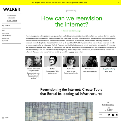 Reenvisioning the Internet: Create Tools that Reveal its Ideological Infrastructures