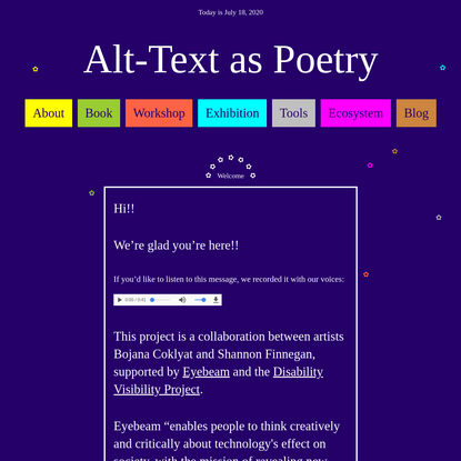Alt-Text as Poetry