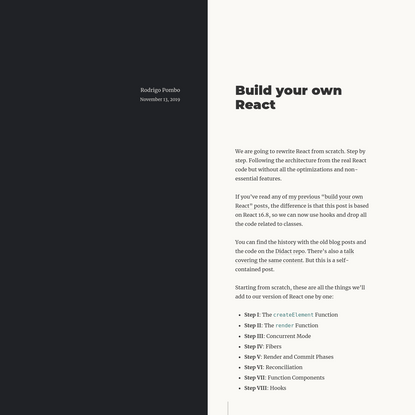Build your own React