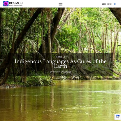 Indigenous Languages As Cures of the Earth