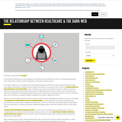 The Relationship Between Healthcare & The Dark Web - ID Agent