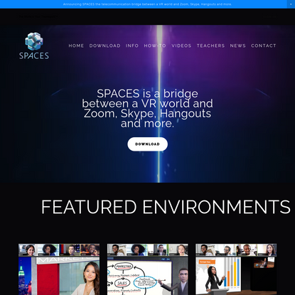 SPACES - VR add on for ZOOM, Webex, Hangouts, Skype, Teams and more.