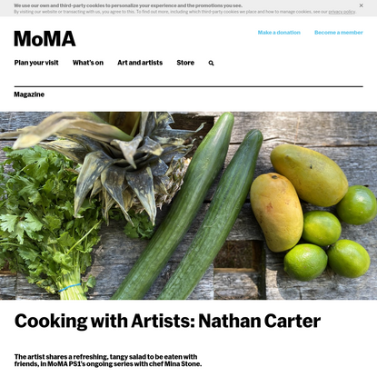 Cooking with Artists: Nathan Carter   Magazine   MoMA