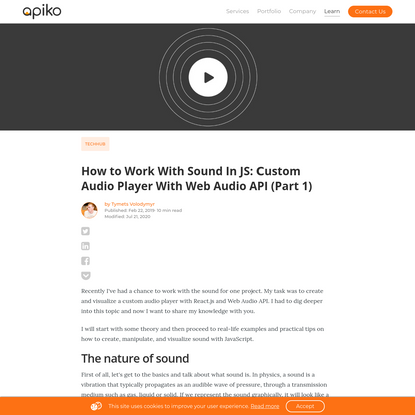 How to Work with Sound In JS: Сustom Audio Player With Web Audio API