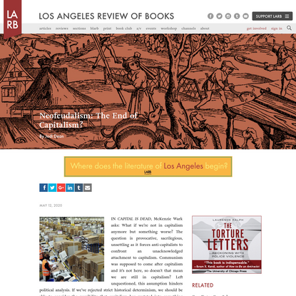 Neofeudalism: The End of Capitalism? - Los Angeles Review of Books