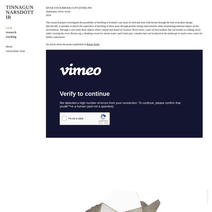 PRODUCT DESIGN IN WILD TERRAIN - Tinna Gunnarsdóttir