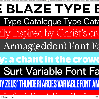 Blaze Type