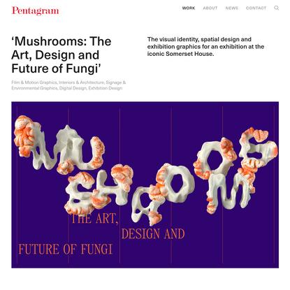 'Mushrooms: The Art, Design and Future of Fungi' - Story