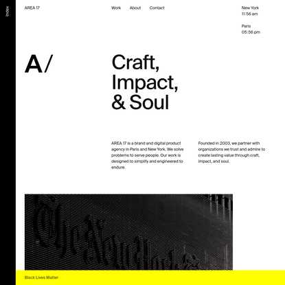 AREA 17 - A brand and digital product agency