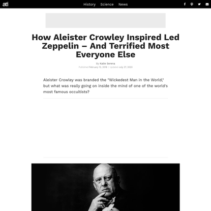 How Aleister Crowley Inspired Led Zeppelin - And Terrified Most Everyone Else