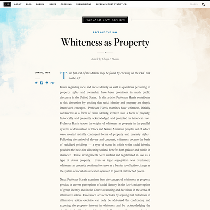 Whiteness as Property