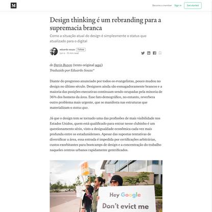 Design thinking é um rebranding para a supremacia branca