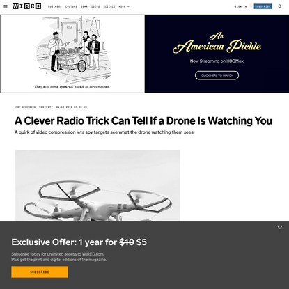 A Clever Radio Trick Can Tell If a Drone Is Watching You